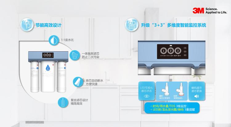 3M净水器R8S-VB家用厨房反渗透无桶纯水机